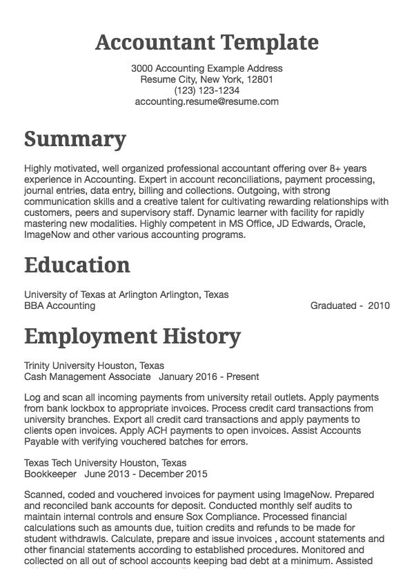 accounting resume samples all experience levels skills summary chartered accountant for Resume Accounting Resume Skills Summary