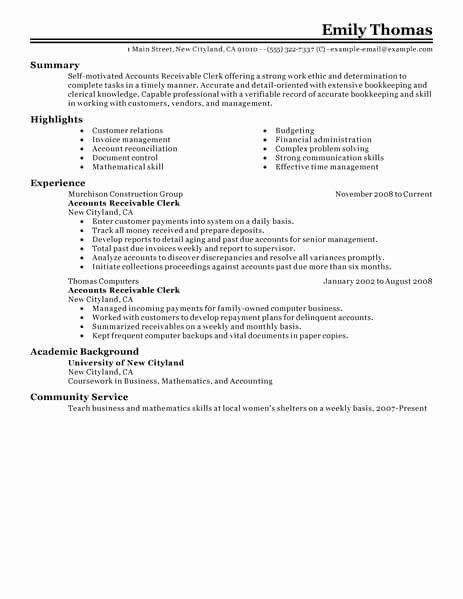 accounts payable and receivable resume awesome best clerk exam job samples template Resume Accounts Receivable Clerk Job Description For Resume