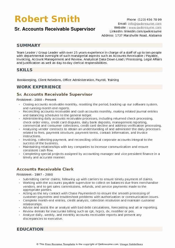 accounts payable and receivable resume beautiful supervisor samples job examples Resume Accounts Receivable Manager Resume