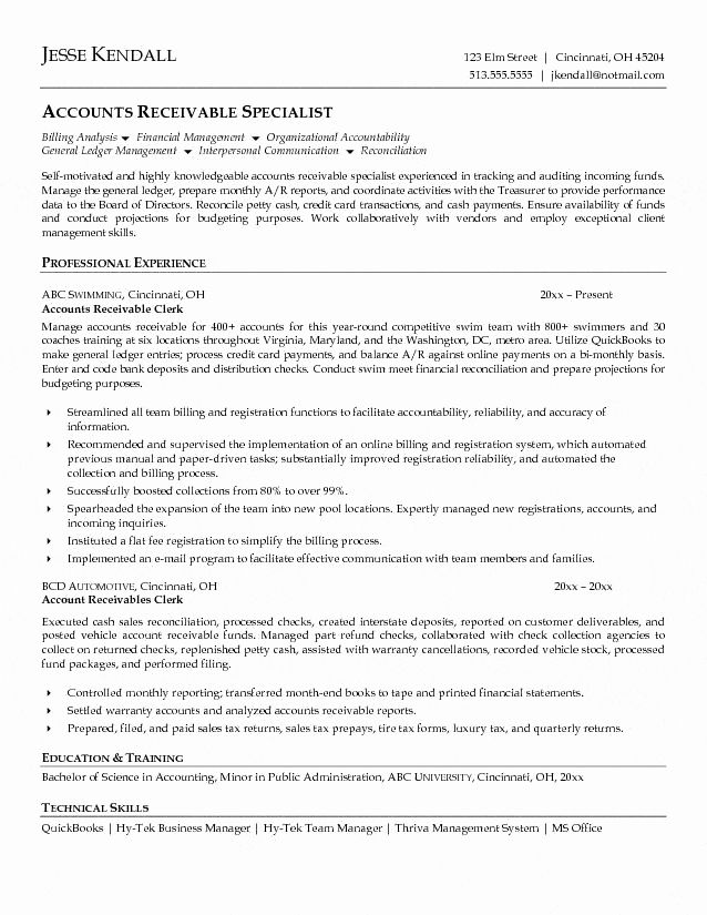 accounts payable and receivable resume inspirational clerk resumes cincinnati credit card Resume Credit Card Reconciliation Resume