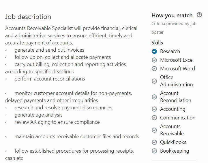 accounts receivable manager resume unique payable samples ap ar exam job examples good Resume Payment Poster Job Description For Resume