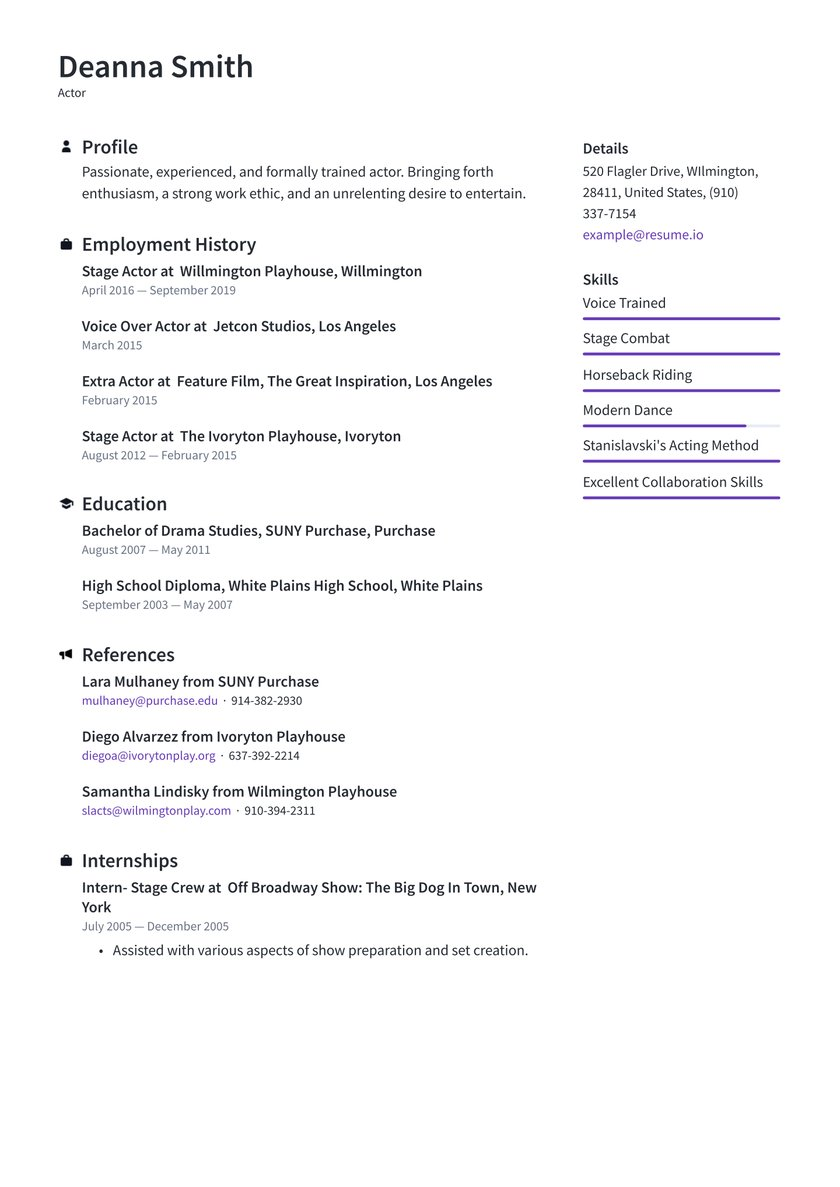 actor resume examples writing tips free guide io theatrical template best help websites Resume Theatrical Resume Template