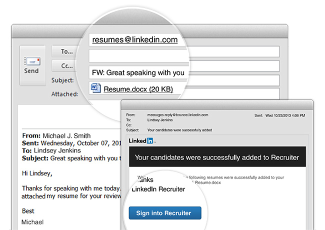 adding resumes to recruiter now as easy sending an email linkedin talent blog import Resume Import Resume From Linkedin