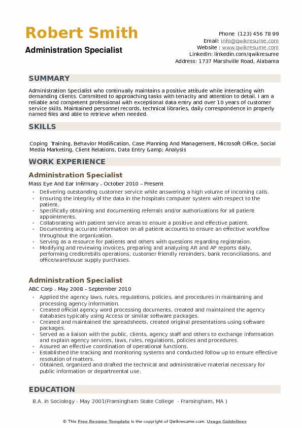administration specialist resume samples qwikresume patient pdf generic examples build Resume Patient Administration Specialist Resume