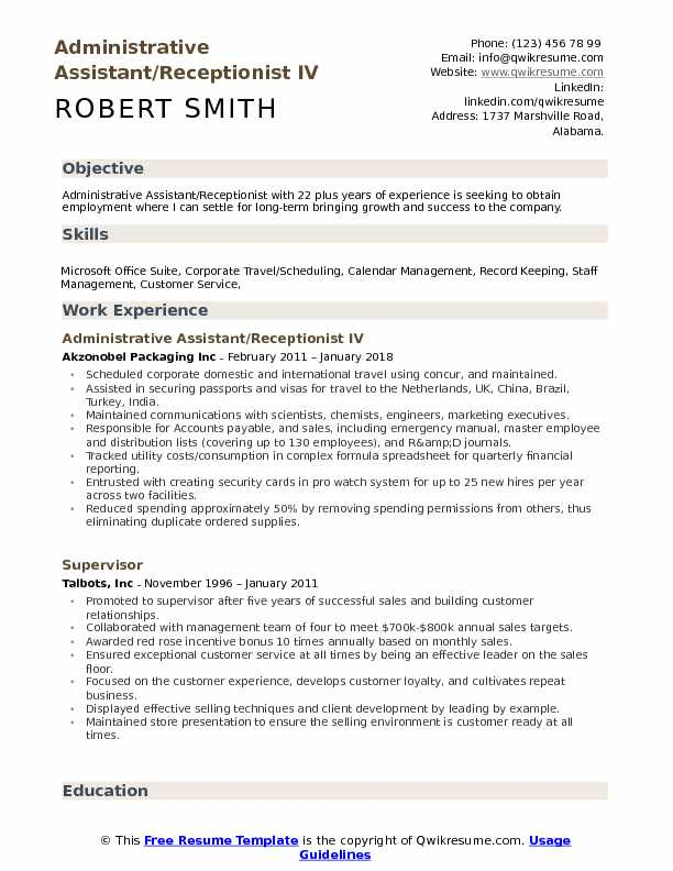 administrative assistant receptionist resume samples qwikresume title pdf security Resume Administrative Assistant Resume Title