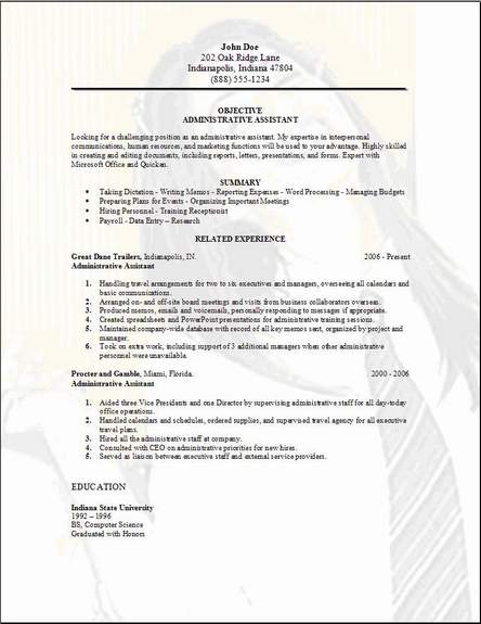 administrative assistant resume examples samples free edit with word sample for office Resume Sample Resume For Office Assistant Position