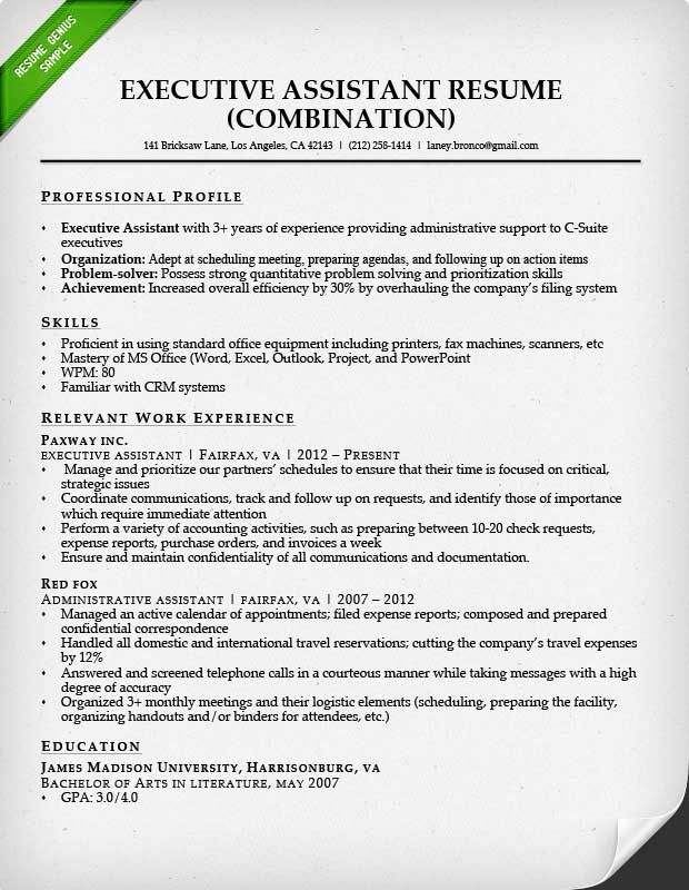 administrative assistant resume sample genius professional samples examples title for Resume Resume Title Examples For Administrative Assistant