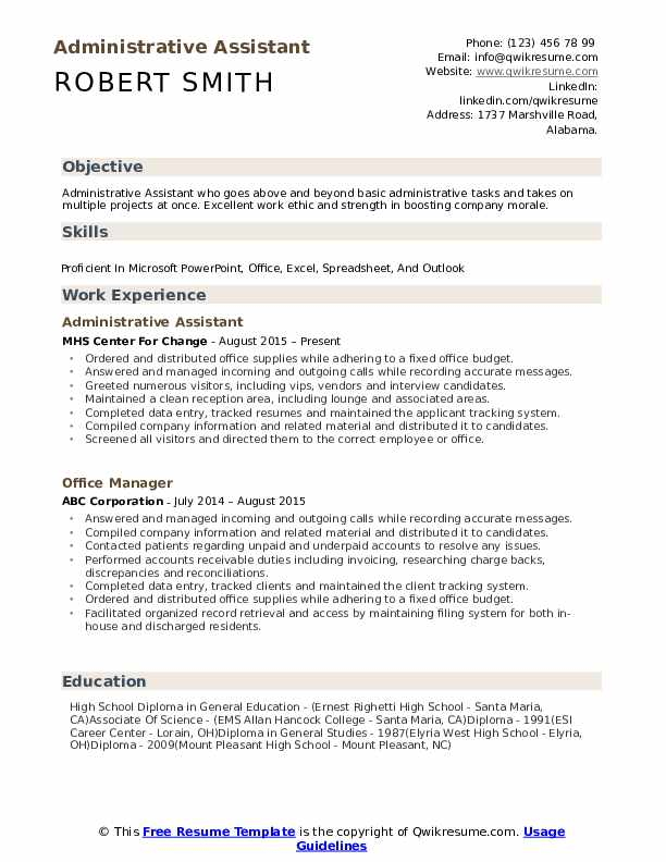 administrative assistant resume samples qwikresume title examples for pdf linkedin Resume Resume Title Examples For Administrative Assistant