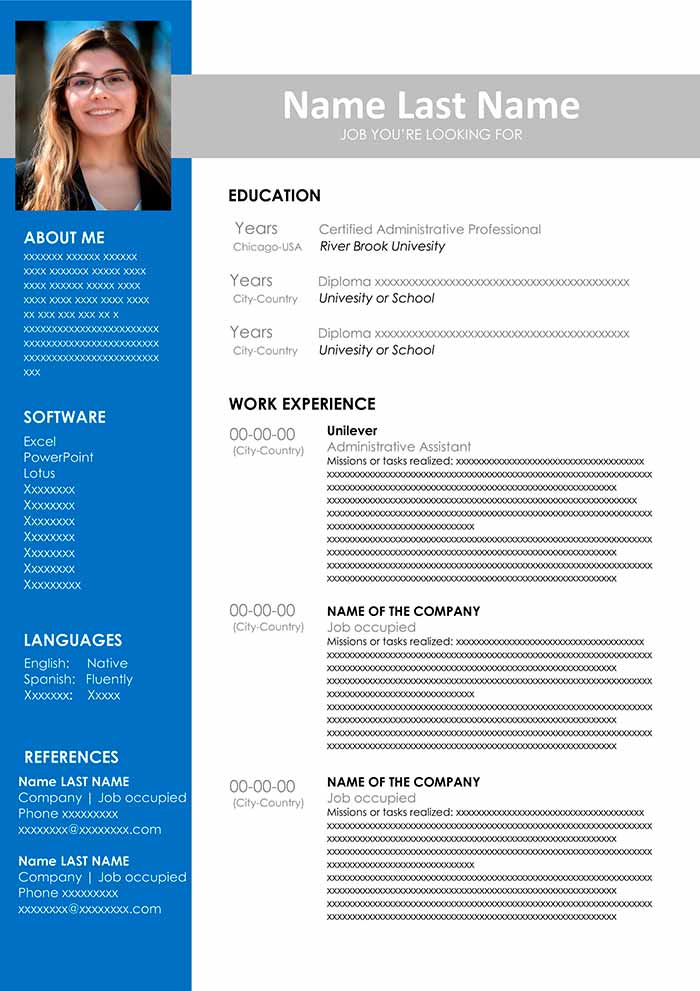 administrative assistant resume template free templates for welding job skills title Resume Free Administrative Assistant Resume Templates
