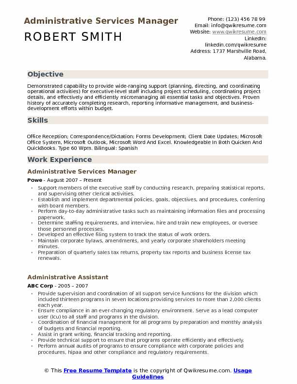 administrative services manager resume samples qwikresume support pdf bank financial Resume Support Services Manager Resume