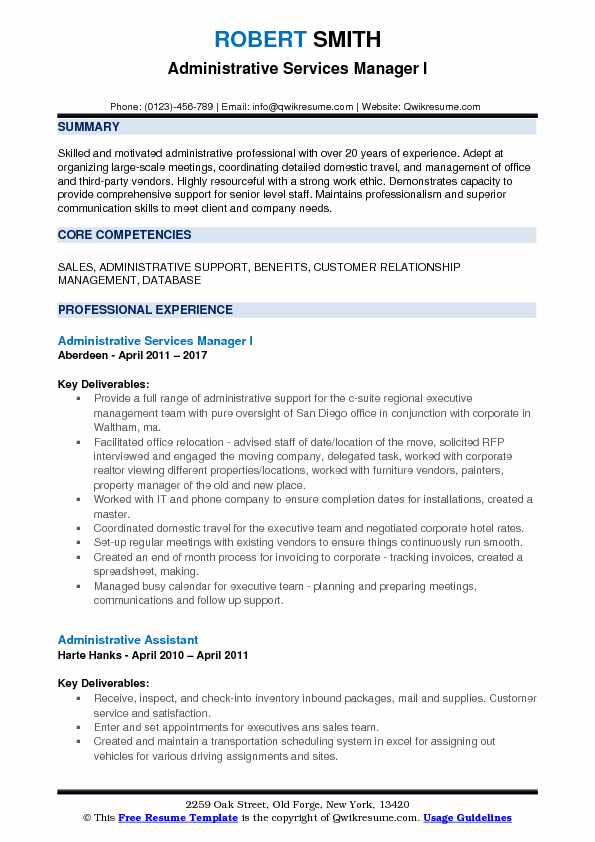 administrative services manager resume samples qwikresume support pdf release accounts Resume Support Services Manager Resume