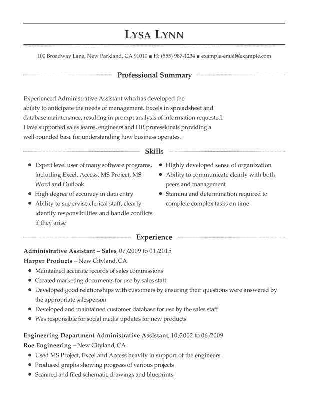 administrative support combination resume samples examples format templates help sample Resume Sample Resume For Clerical Administrative