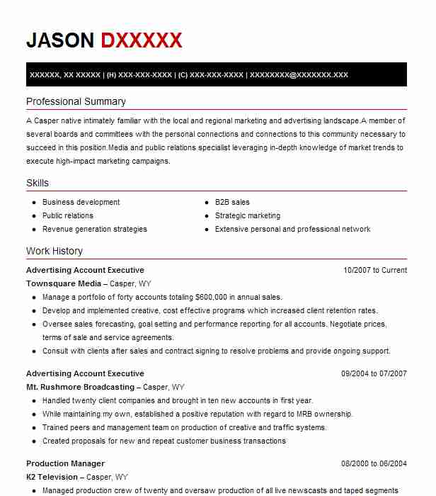 advertising account executive resume example livecareer media check score manager job Resume Media Account Executive Resume