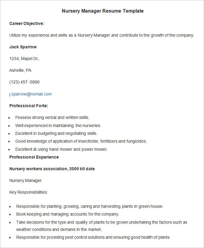 agriculture resume templates pdf free premium horticulture template nursery manager Resume Horticulture Resume Template
