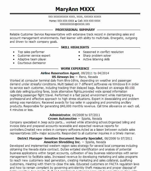 airline reservation agent resume example livecareer ticketing executive sample ruby on Resume Ticketing Executive Resume Sample