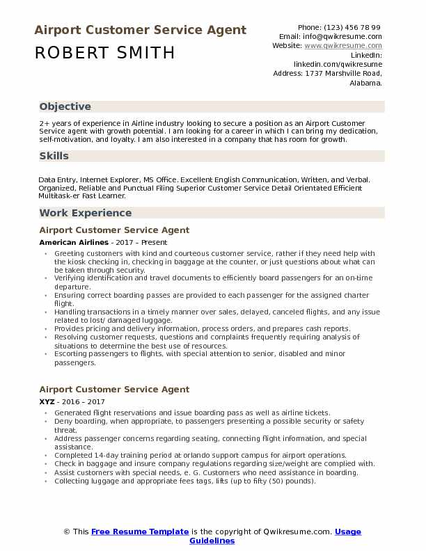 airport customer service agent resume samples qwikresume security objective pdf microsoft Resume Airport Security Resume Objective