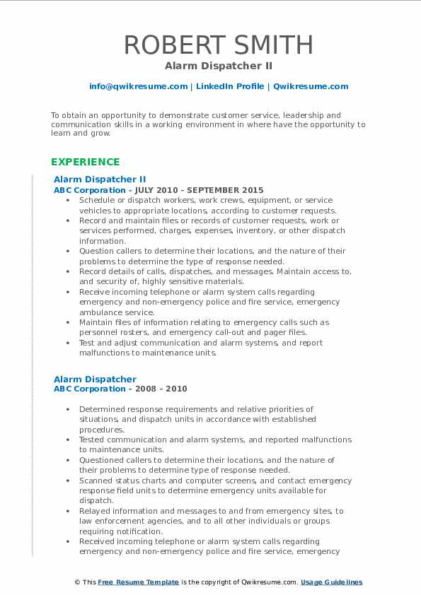 alarm dispatcher resume samples qwikresume pdf auto insurance agent format for nursery Resume Alarm Dispatcher Resume