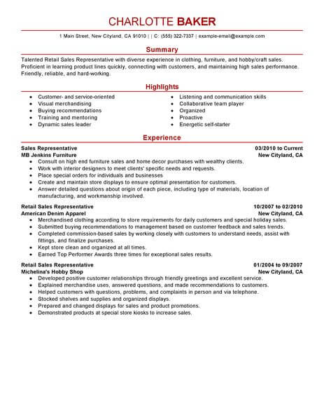 amazing customer service resume examples livecareer bullet points rep retail example Resume Customer Service Resume Bullet Points