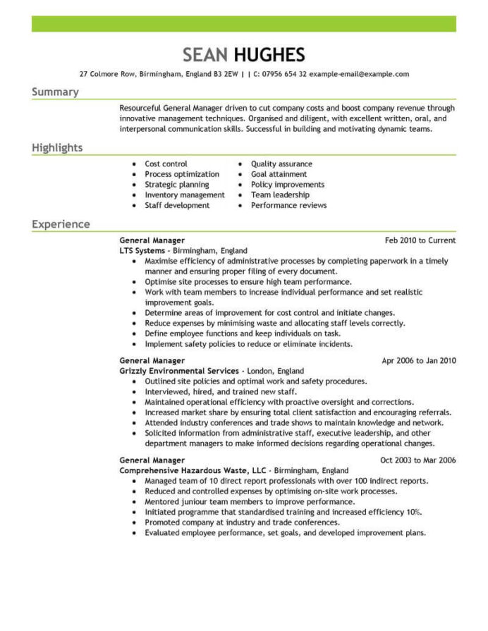 amazing management resume examples livecareer of leadership skills on general manager Resume Examples Of Leadership Skills On Resume