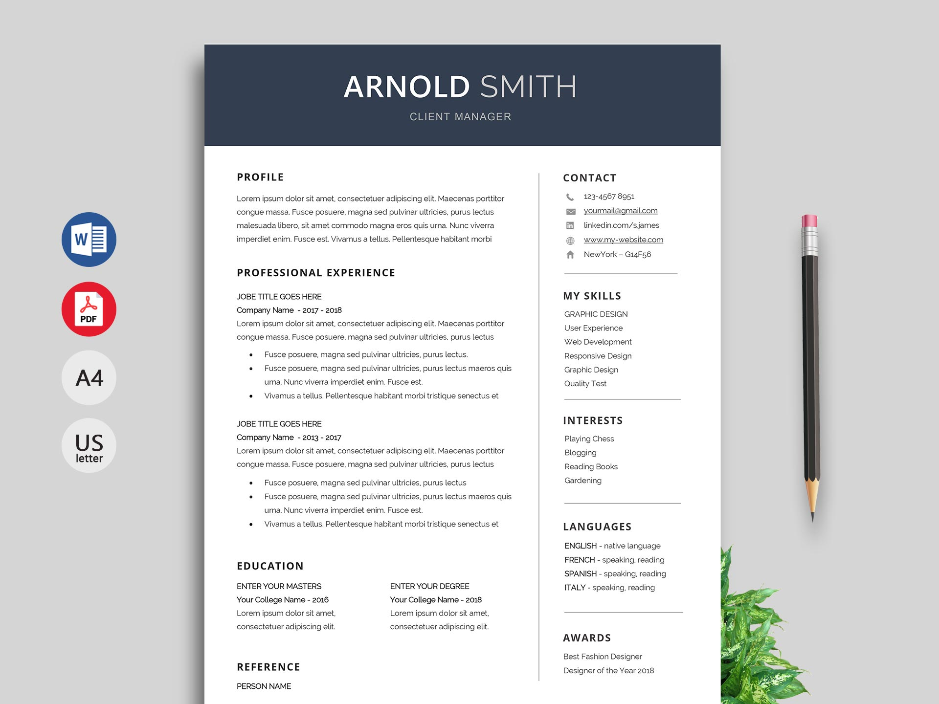 anchor resume template word format resumekraft linkedin technical project manager Resume Linkedin Resume Template Word