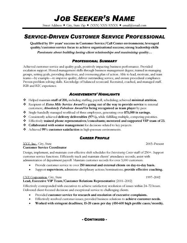 apply customer service job description for resume examples in profile summary supply Resume Resume Profile Summary Customer Service