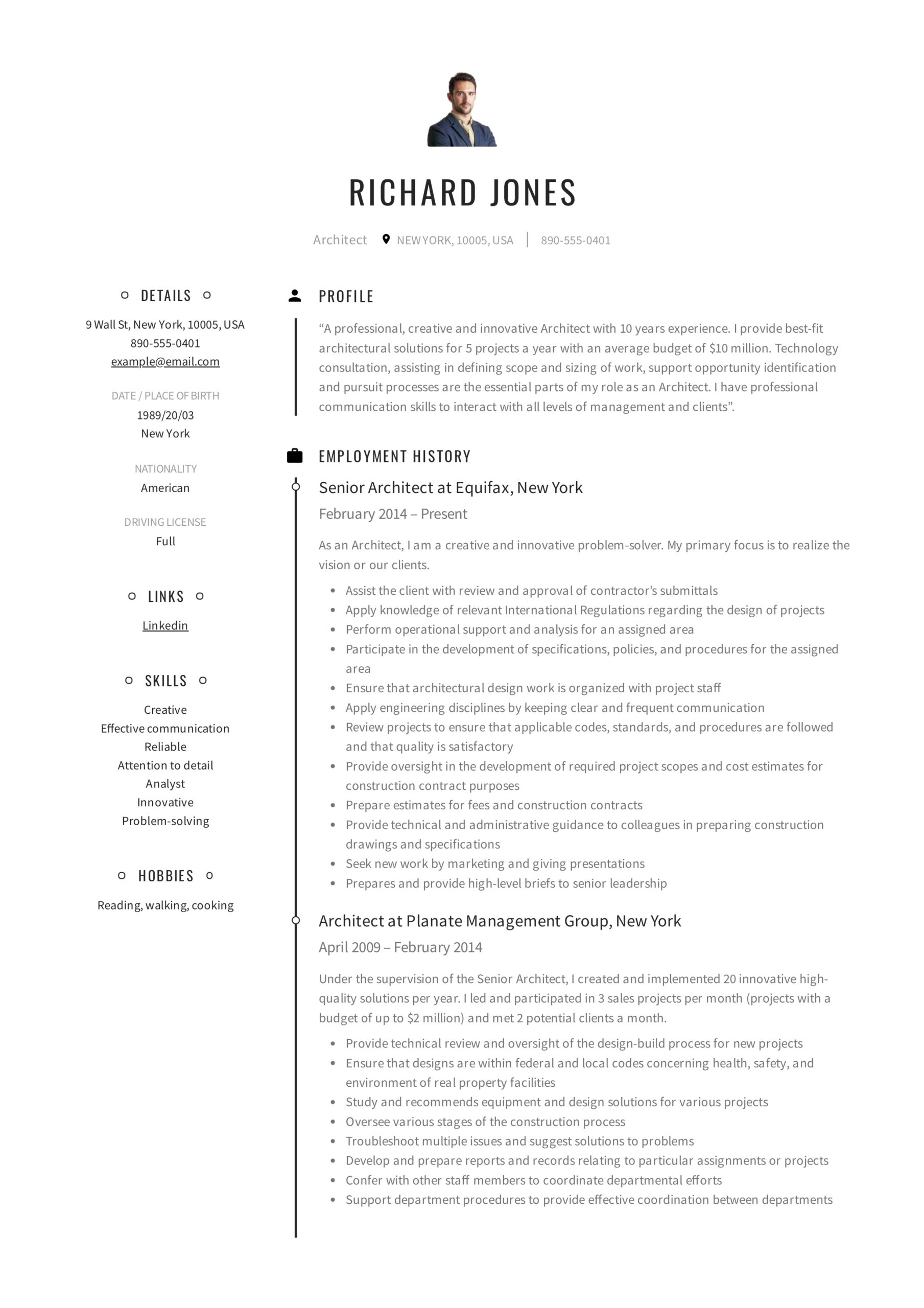 architect resume writing guide samples pdf word architecture firm sample richard creative Resume Architecture Firm Resume