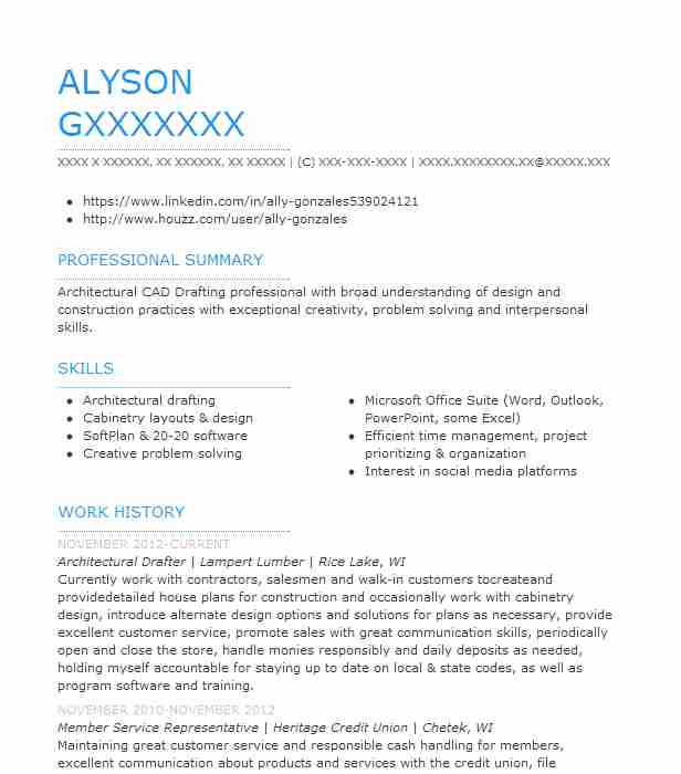 architectural drafter resume example resumes livecareer drafting examples summary Resume Architectural Drafting Resume Examples
