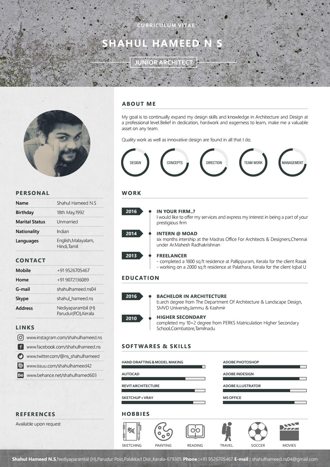 architectural resume by shahul hameed issuu architecture firm asset management analyst Resume Architecture Firm Resume