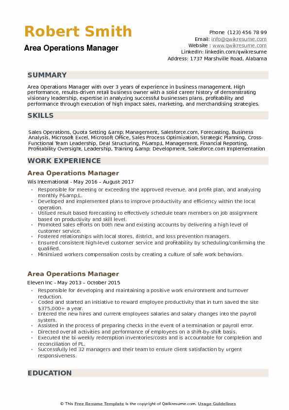 area operations manager resume samples qwikresume pdf executive housekeeper job Resume Operations Manager Resume