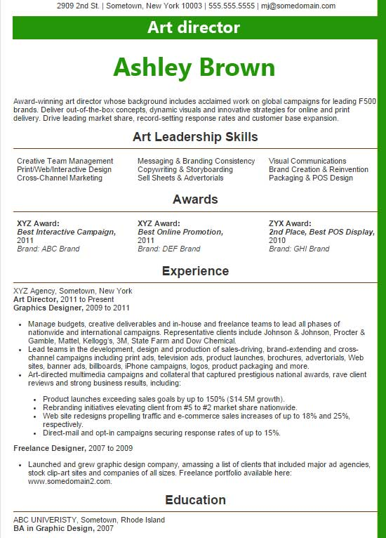 art director resume examples management example uh bauer administrative assistant title Resume Management Resume Examples 2016