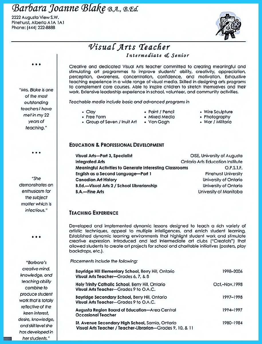 art teacher jobs education resume examples objective for teachers free instant review Resume Art Education Resume Examples