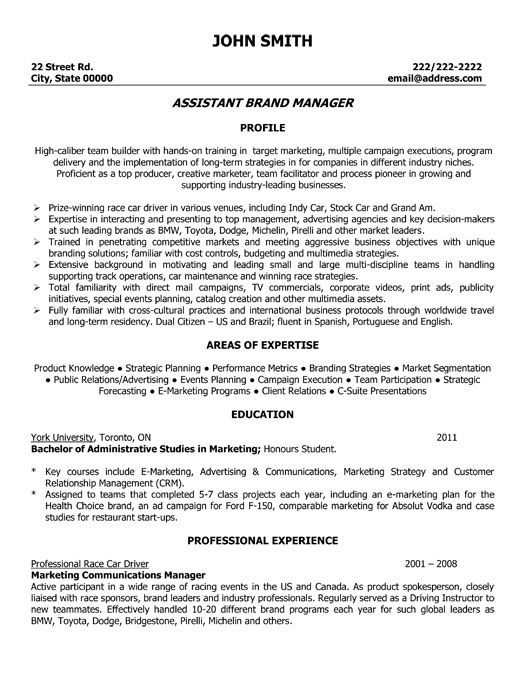 assistant brand manager resume template premium samples example management sample Resume Campaign Manager Resume