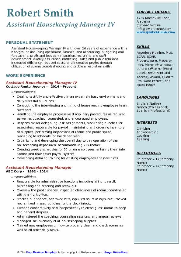 assistant housekeeping manager resume samples qwikresume cleaning service pdf floor Resume Cleaning Service Manager Resume