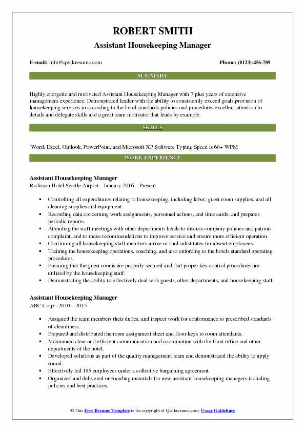assistant housekeeping manager resume samples qwikresume cleaning service pdf tour guide Resume Cleaning Service Manager Resume