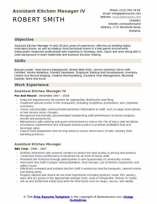 assistant kitchen manager resume samples qwikresume summary pdf rn sample college Resume Kitchen Manager Resume Summary