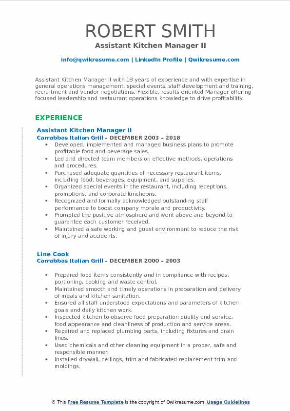 assistant kitchen manager resume samples qwikresume summary pdf skills for admin funeral Resume Kitchen Manager Resume Summary