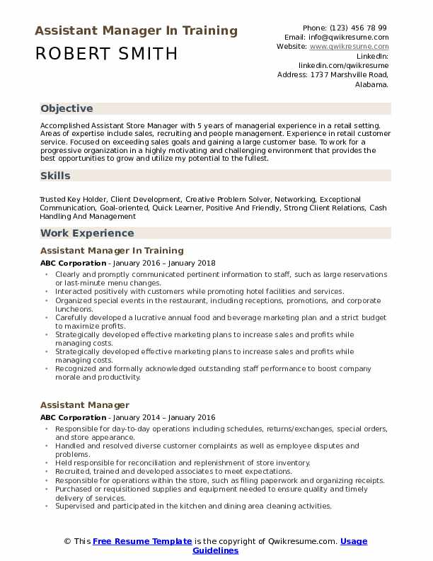 assistant manager resume samples qwikresume skills pdf computer science fresher daycare Resume Assistant Manager Skills Resume