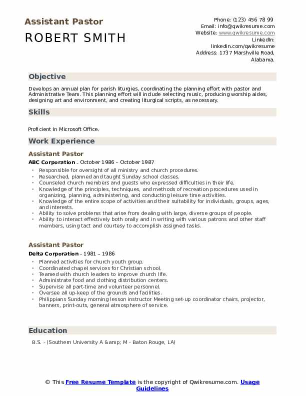 assistant pastor resume samples qwikresume for pastoral candidate pdf objective offshore Resume Resume For Pastoral Candidate