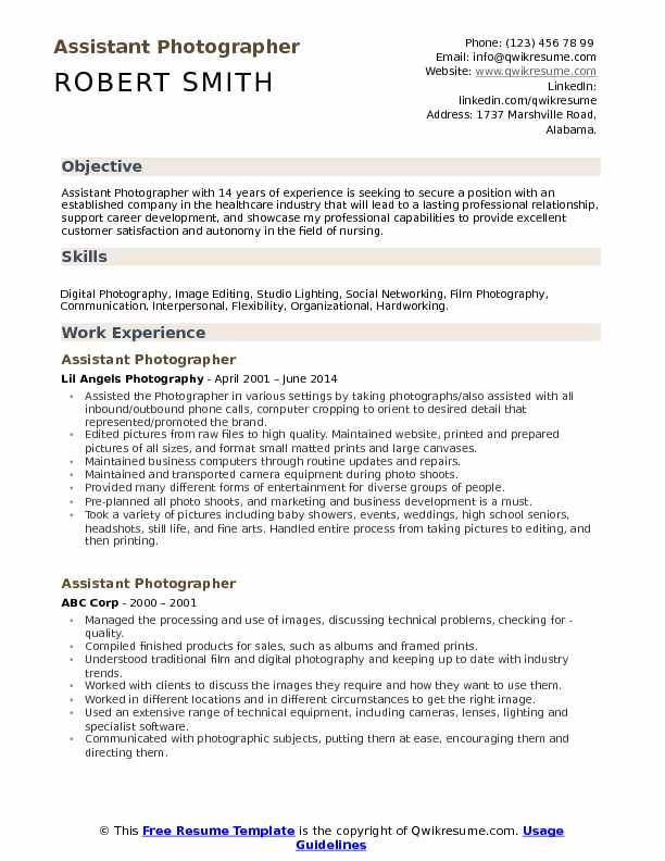 assistant photographer resume samples qwikresume photography objective examples pdf coach Resume Photography Resume Objective Examples
