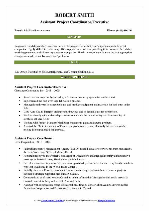 assistant project coordinator resume samples qwikresume pdf fitness instructor free for Resume Assistant Project Coordinator Resume