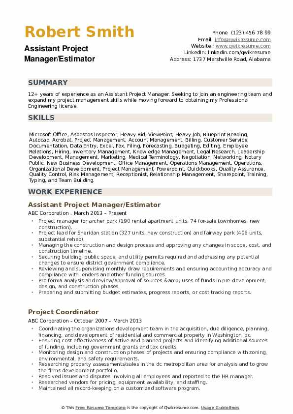 assistant project manager resume samples qwikresume entry level construction pdf good Resume Entry Level Construction Manager Resume