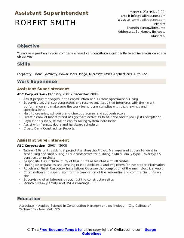 assistant superintendent resume samples qwikresume construction examples and pdf Resume Construction Superintendent Resume Examples And Samples
