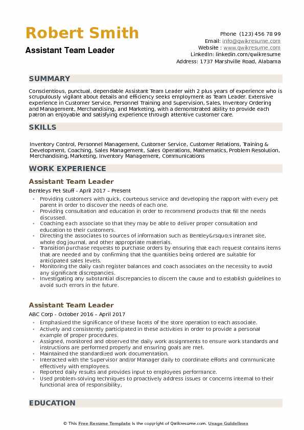 assistant team leader resume samples qwikresume technical lead sample pdf style guide ob Resume Technical Team Lead Resume Sample