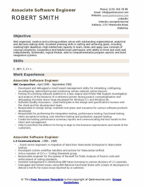 associate software engineer resume samples qwikresume good objectives for engineers pdf Resume Good Resume Objectives For Software Engineers