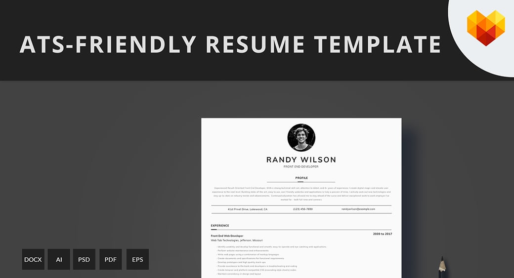 ats friendly resume template format guide sample cv templates free basic summary for Resume Ats Friendly Resume Template Free 2019