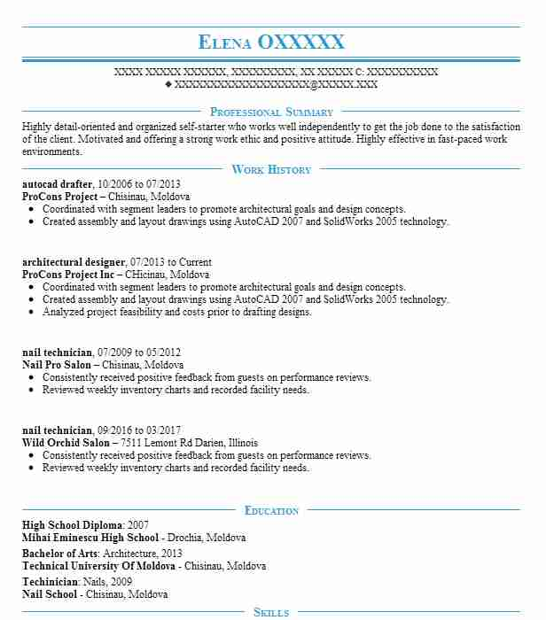 autocad drafter resume example resumes livecareer architectural drafting examples rental Resume Architectural Drafting Resume Examples