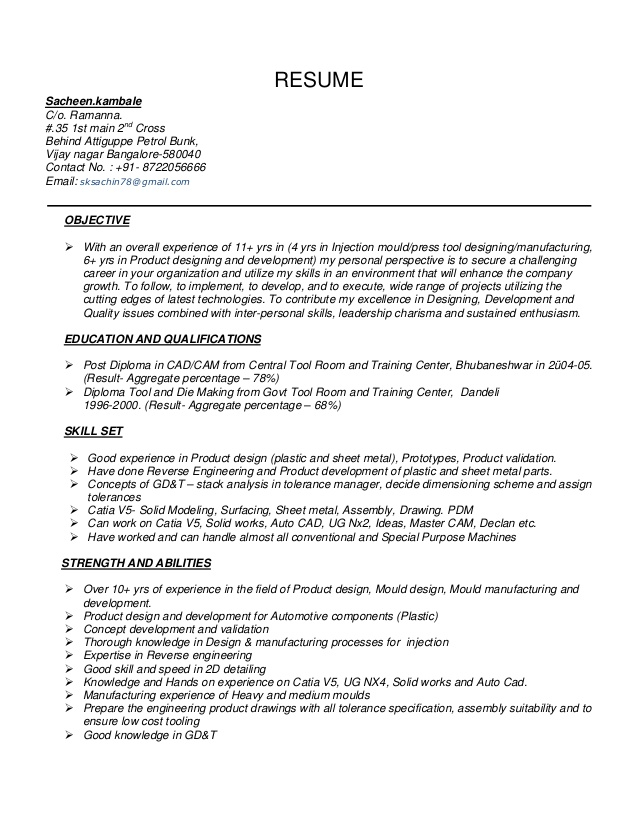 automotive resume sacheen tool design engineer example free instant review production Resume Tool Design Engineer Resume Example
