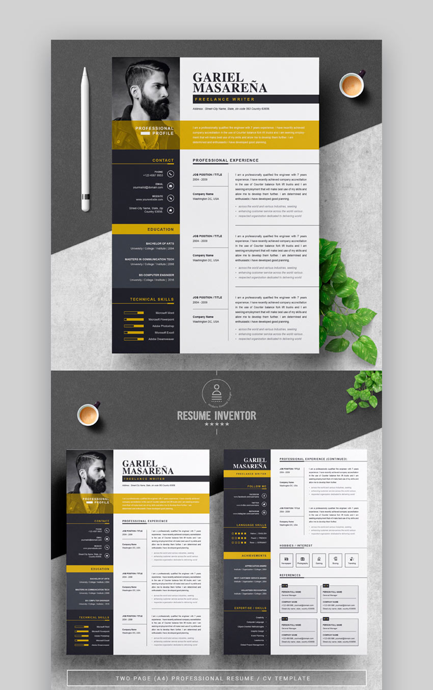 awesome illustrator resume templates with creative cv designs faking your computer Resume Illustrator Resume Templates