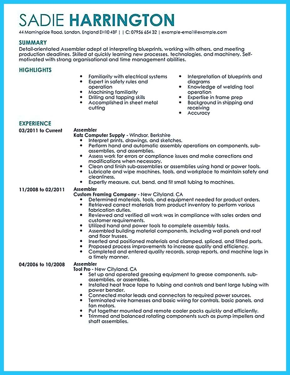 awesome professional assembly line worker resume to make you stand out good examples Resume Sheet Metal Worker Resume Example