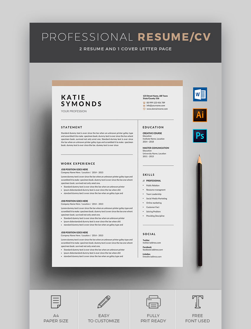 awesome resume cv templates with beautiful layout designs ceo template word free Resume Ceo Resume Template Word Free